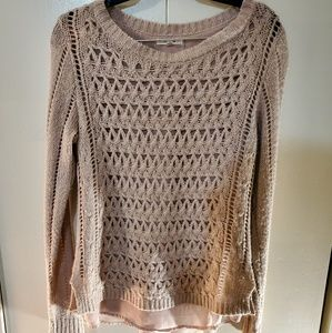 Maurices Peach Knitted Long Sleeve Top